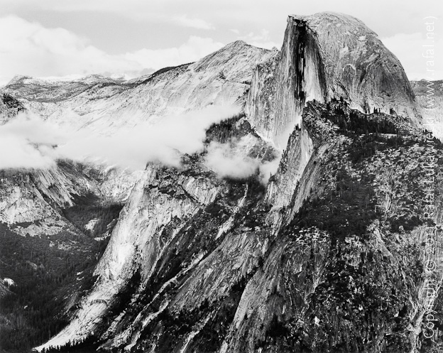 Half Dome Above Clouds, Yosemite