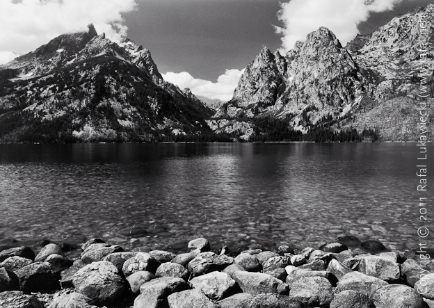 Tetons over Jenny Lake