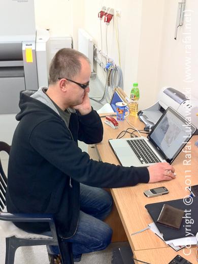 Rafał Sosin, DTP, Makes a Last Minute Adjustment