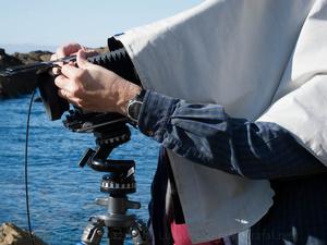 John Sexton at his Camera in Point Lobos, CA