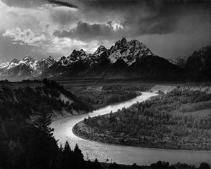 The Tetons and the Snake River by Ansel Adams. Image in the public domain, via Wikimedia Commons.